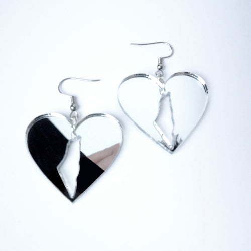 Palestine Love Earrings (Silver)