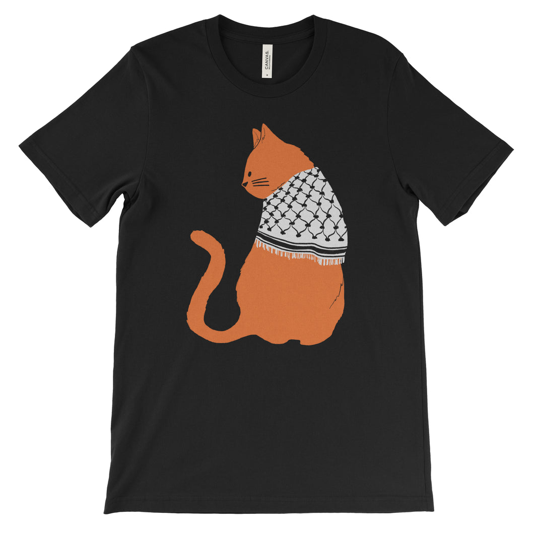 Palestinian Catfiyyeh T-Shirt (Orange Cat)