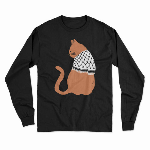 Long Sleeve Palestinian Catfiyyeh Shirt (Orange Cat)