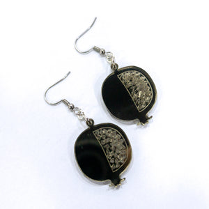 Palestinian Pomegranate Earrings (Bronze)