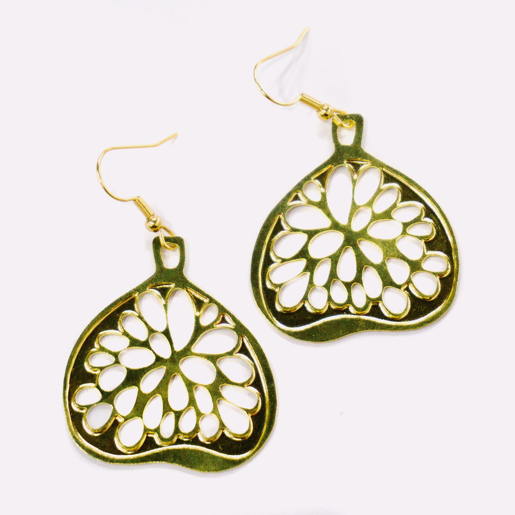 Palestinian Fig Earrings (Brass)