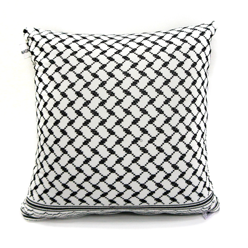 Kuffiyeh Tatreez Pillow (Version 2)