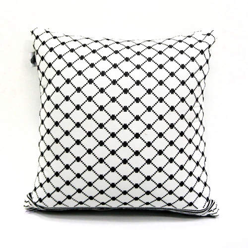Kuffiyeh Tatreez Pillow (Version 1)