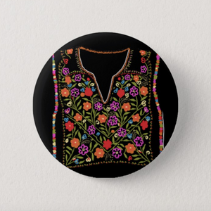 Floral Thobe Button Pin