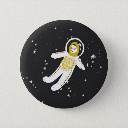 Palestinian Astronaut Button Pin