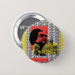 """Oum Kalthoum in Palestine"" Button Pin"