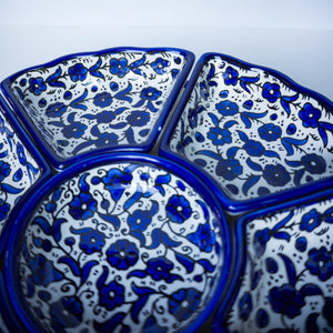 Hand-Painted Khalili Ceramic Combination Tray (Colorful)