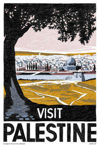 "Reclaimed ""Visit Palestine"" Poster"