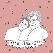 "Load image into Gallery viewer, Edward Said & Mahmoud Darwish ""We Flawless"" Print"