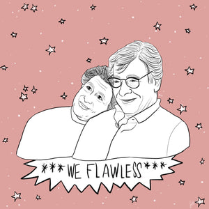 "Edward Said & Mahmoud Darwish ""We Flawless"" Print"