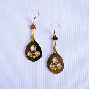 Palestinian Oud Earrings (Brass)