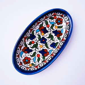 Hand-Painted Khalili Ceramic Oval Plate