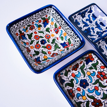 Load image into Gallery viewer, Hand-Painted Khalili Deep Square Ceramic Bowl