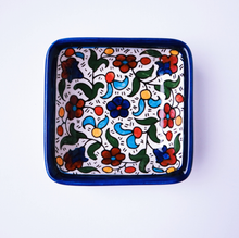 Load image into Gallery viewer, Hand-Painted Khalili Shallow Square Ceramic Bowl