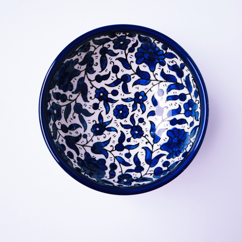 Hand-Painted Khalili Small Ceramic Bowl