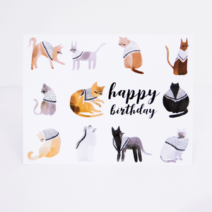 Catfiyyeh Happy Birthday Card