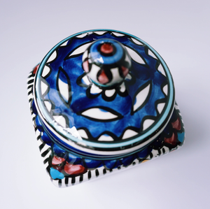 Hand-Painted Khalili Ceramic Jar (Square)