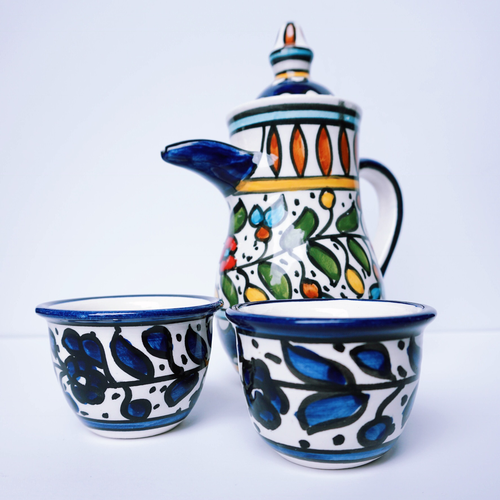 Hand-Painted Khalili Arabic Coffee Cups