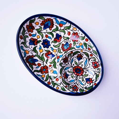 Hand-Painted Khalili Ceramic Split Plate