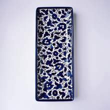Load image into Gallery viewer, Hand-Painted Khalili Ceramic Large Rectangle Plate