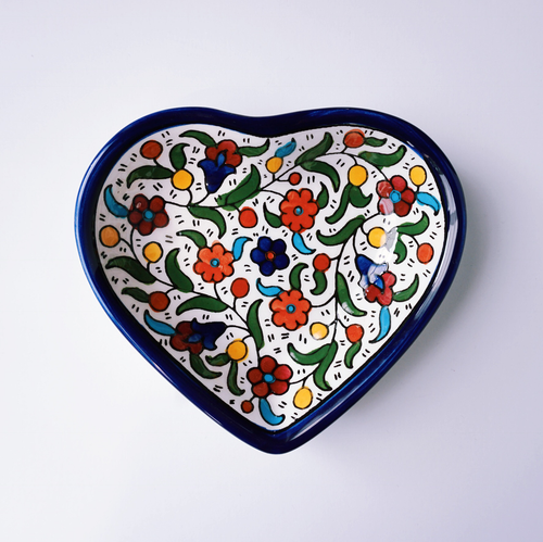 Hand-Painted Khalili Heart Ceramic Bowl