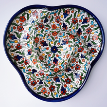 Load image into Gallery viewer, Hand-Painted Khalili Ceramic Divided Serving Platter