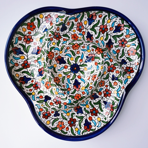 Hand-Painted Khalili Ceramic Divided Serving Platter