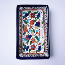 Load image into Gallery viewer, Hand-Painted Khalili Ceramic Small Rectangular Plate