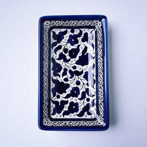 Hand-Painted Khalili Ceramic Small Rectangular Plate