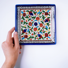 Load image into Gallery viewer, Hand-Painted Khalili Medium Square Ceramic Plate