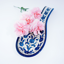 Load image into Gallery viewer, Hand-Painted Khalili Ceramic Spoonrest (Spoon)