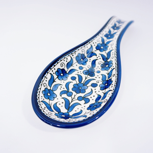 Hand-Painted Khalili Ceramic Spoonrest (Spoon)