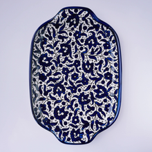 Load image into Gallery viewer, Hand-Painted Khalili Ceramic Flower Serving Tray