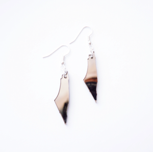 Bronze Mirror Palestine Map Earrings
