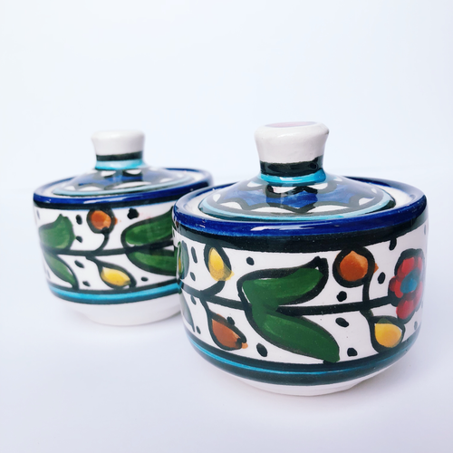 Hand-Painted Khalili Small Ceramic Jar (Round)