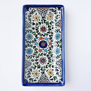 Hand-Painted Khalili Ceramic Medium Rectangular Plate (Version 2)