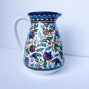 Hand-Painted Khalili Ceramic Pitcher