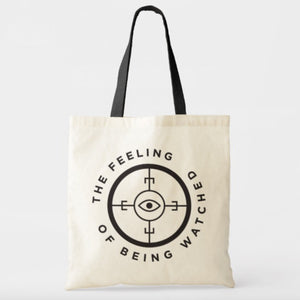 """The Feeling of Being Watched"" Documentary Tote Bag"