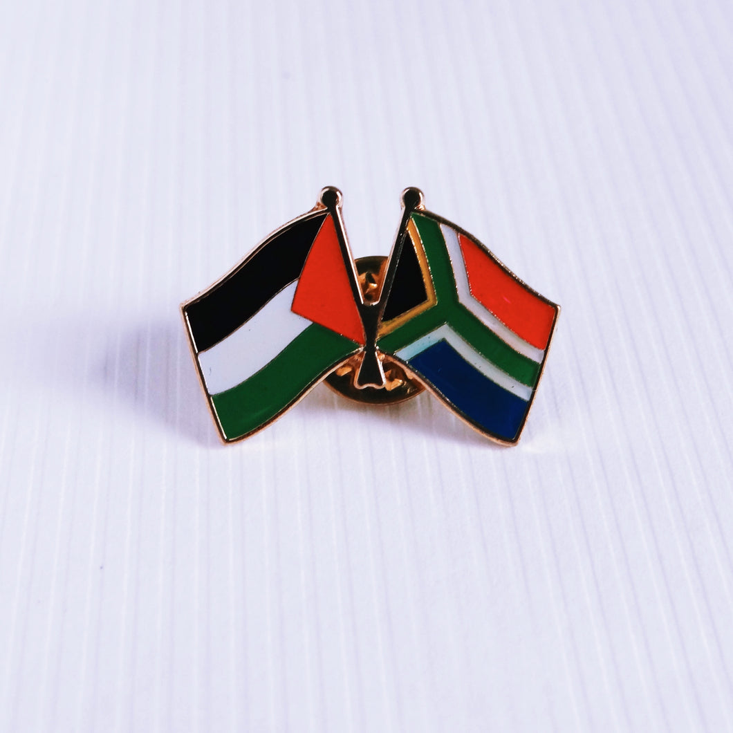Palestine & South Africa Solidarity Flags Pin