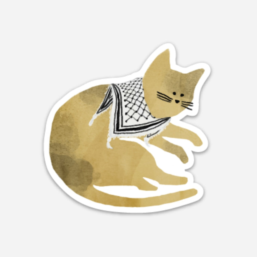 Palestinian Orange Catfiyyeh Sticker