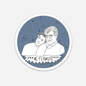 "Edward Said & Mahmoud Darwish ""We Flawless"" Sticker"