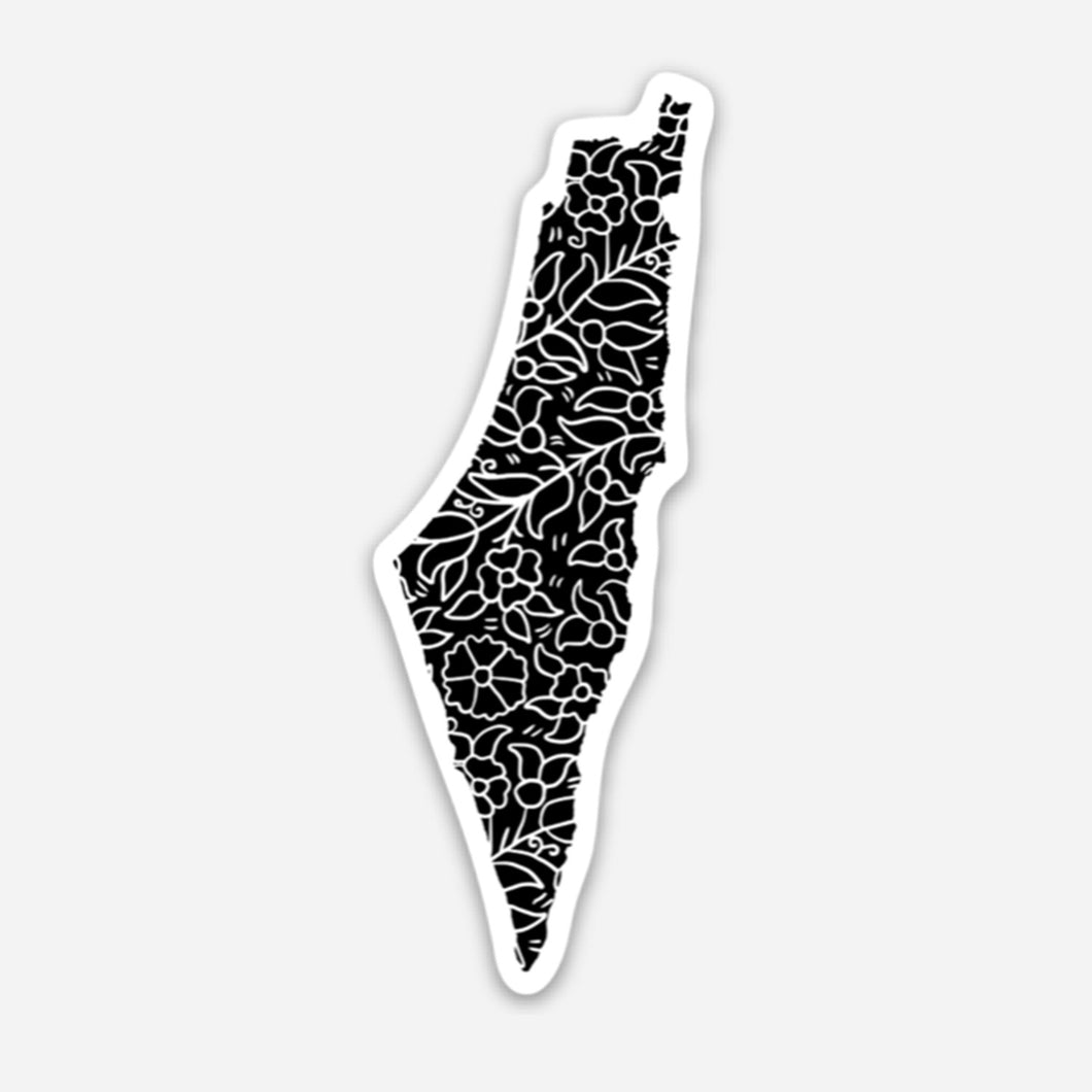 Small Palestinian Poppy & Pomegranate Sticker