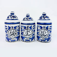 Load image into Gallery viewer, Hand-Painted Khalili Hospitality Jars Set