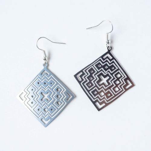 Palestinian Basic Tatreez Earrings (Stainless Steel)