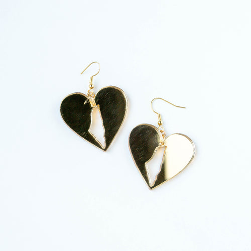 Palestine Love Earrings (Gold)