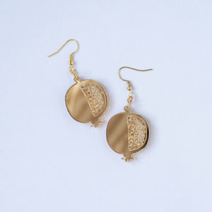 Palestinian Pomegranate Earrings (Gold)
