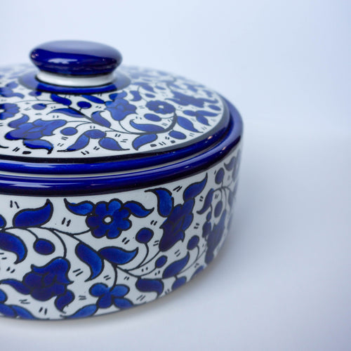 Hand-Painted Khalili Ceramic Pot