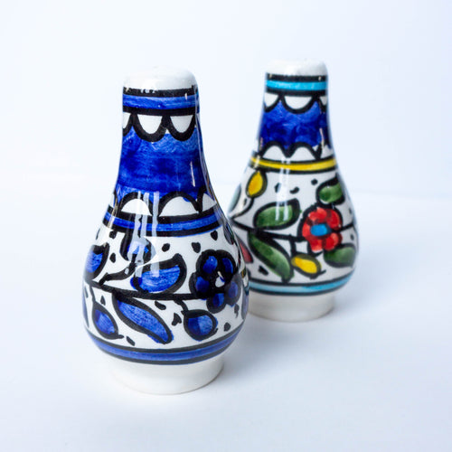 Hand-Painted Khalili Ceramic Salt & Pepper Shakers