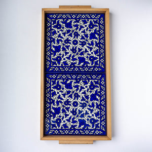 Hand-Painted Khalili Rectangular Ceramic Tray (Large)