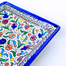Load image into Gallery viewer, Hand-Painted Khalili Ceramic Large Square Plate